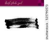 black ink hand drawing brush... | Shutterstock .eps vector #525790573