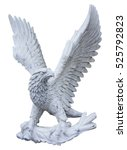 Eagle Carved From White Marble...