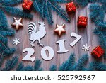 happy new year  background with ... | Shutterstock . vector #525792967