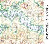 topographic map background... | Shutterstock .eps vector #525794017