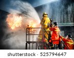 firefighter training  the... | Shutterstock . vector #525794647