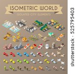 isometric world. set of... | Shutterstock .eps vector #525795403