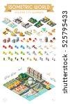 isometric world. set of... | Shutterstock .eps vector #525795433