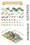 isometric world. set of... | Shutterstock .eps vector #525795553