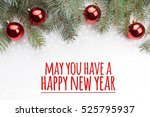 christmas decorations with... | Shutterstock . vector #525795937