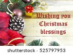 christmas border of evergreen ...   Shutterstock . vector #525797953