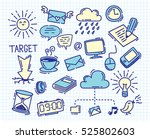 business themed doodle on paper ... | Shutterstock . vector #525802603