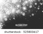 snow blizzard effect on... | Shutterstock .eps vector #525803617