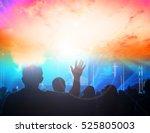 christian music concert  | Shutterstock . vector #525805003