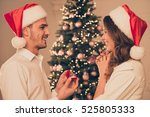young happy man making proposal ... | Shutterstock . vector #525805333