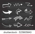 arrow doodle background | Shutterstock . vector #525805843