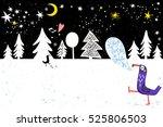 winter amazing illustration.... | Shutterstock .eps vector #525806503