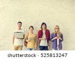 diversity friends using digital ... | Shutterstock . vector #525813247