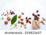 selection food sources of omega ... | Shutterstock . vector #525822637