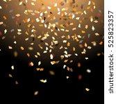 golden confetti isolated on... | Shutterstock .eps vector #525823357
