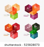 vector set of geometric paper... | Shutterstock .eps vector #525828073