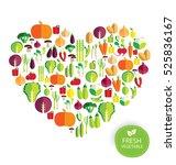 vegetables vector illustration   Shutterstock .eps vector #525836167