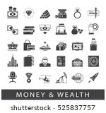 set of premium quality money... | Shutterstock .eps vector #525837757