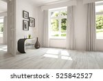 white empty room with green... | Shutterstock . vector #525842527