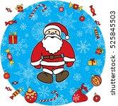 new year santa claus vector... | Shutterstock .eps vector #525845503
