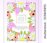 vintage delicate invitation...   Shutterstock .eps vector #525845893