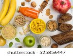 assortment of products rich of... | Shutterstock . vector #525856447