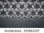 empty dark abstract concrete... | Shutterstock . vector #525861247