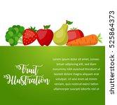 vegetables poster design... | Shutterstock .eps vector #525864373