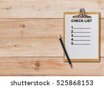 check list on paper clipboard