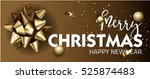 merry christmas or happy new... | Shutterstock .eps vector #525874483