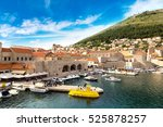 old city dubrovnik in a... | Shutterstock . vector #525878257