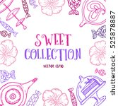 hand drawn sweet collection set