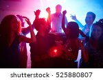 young couple with drinks and... | Shutterstock . vector #525880807