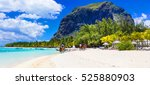 stunning le morne in mauritius. ... | Shutterstock . vector #525880903
