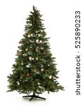 christmas tree isolated on white | Shutterstock . vector #525890233