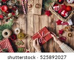 merry christmas and happy... | Shutterstock . vector #525892027