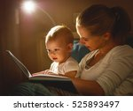 mother and baby sonreading a... | Shutterstock . vector #525893497