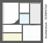 set of  paper note  isolate on... | Shutterstock .eps vector #525894763