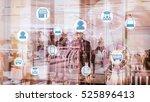 marketing data management... | Shutterstock . vector #525896413