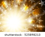 glowing orange golden... | Shutterstock .eps vector #525898213