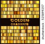 vector set of gold gradients... | Shutterstock .eps vector #525899257