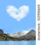 beautiful mountain lake view.... | Shutterstock . vector #525900643