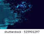 wavy abstract graphic design  a ... | Shutterstock .eps vector #525901297