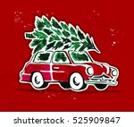 vector watercolor retro style... | Shutterstock .eps vector #525909847