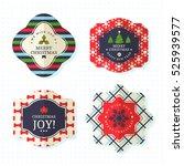 christmas badge  label  pin ...   Shutterstock .eps vector #525939577