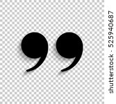 quotes   black vector  icon... | Shutterstock .eps vector #525940687