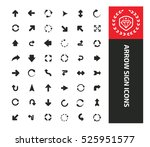 arrows icons design clean... | Shutterstock .eps vector #525951577