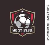 soccer logo  american logo... | Shutterstock .eps vector #525954043