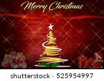 christmas background with... | Shutterstock . vector #525954997