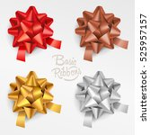 ribbon in various colours. | Shutterstock .eps vector #525957157